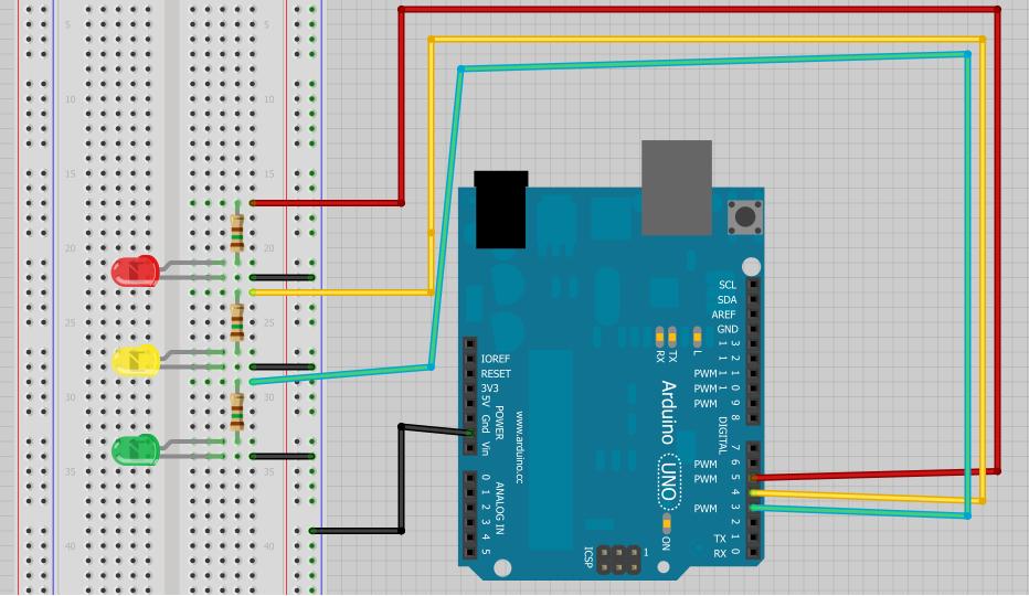 Arduino trafik ışıkları uygulaması batuhan koyuncu